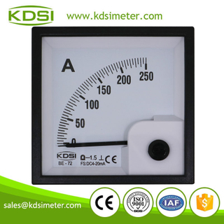 China Supplier BE-72 72*72 DC4-20mA 250A panel ampere electric meter analog