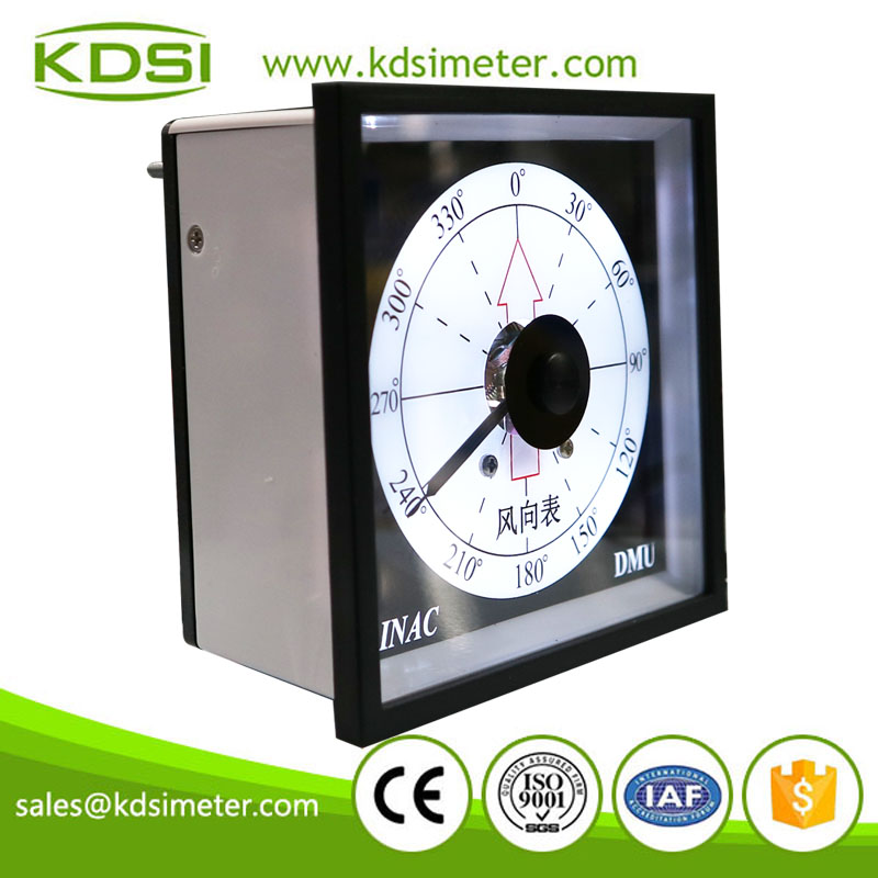 Marine meter Safe to operate BE-96W DC4-20mA 360 degree with backlighting analog panel current Wind direction meter