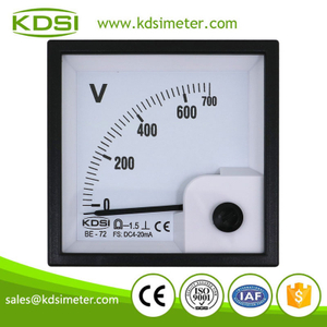 20 Years Manufacturing Experience BE-72 DC4-20mA 700V analog panel amp voltmeter