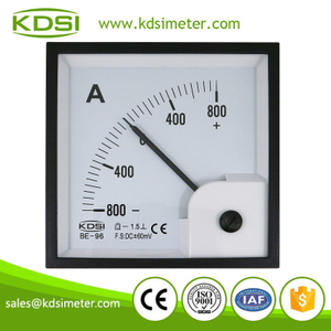 Industrial universal BE-96 DC+-60mV+-800A analog panel dc high precision ammeter