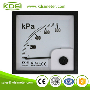 Hot sales BE-72 DC4-20mA 800kpa analog ampere panel mount pressure gauge