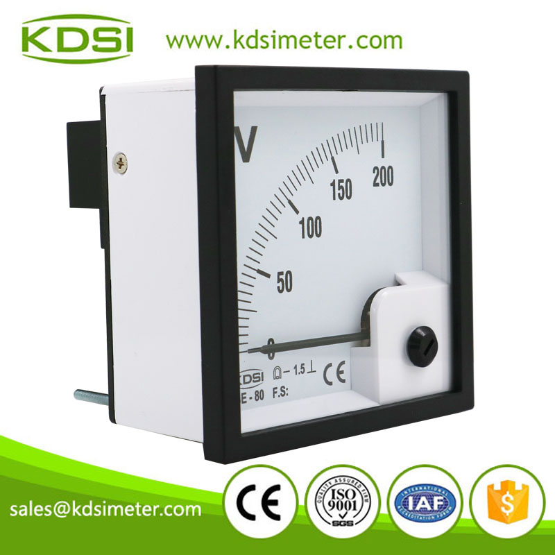 Easy installation BE-80 DC200V dc analog high voltage panel meter