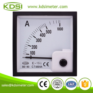 20 Years Manufacturing Experience BE-80 AC500/5A ac analog panel ampere meter