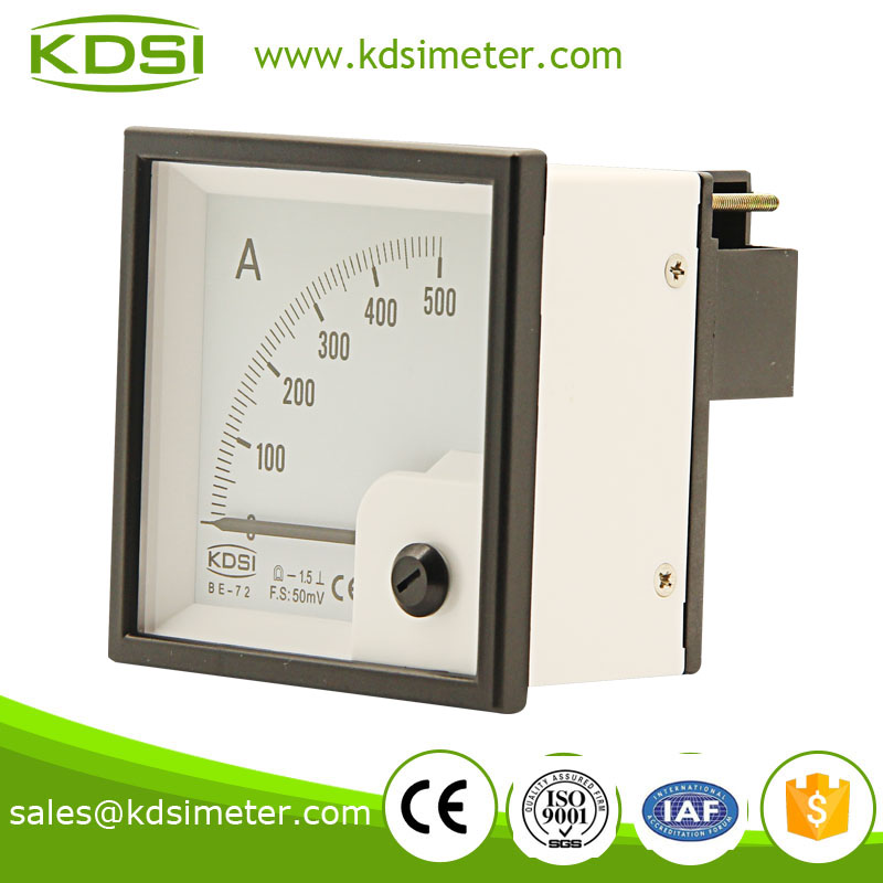 Waterproof BE-72 72*72 DC 50mV 500A panel ammeter and voltmeter