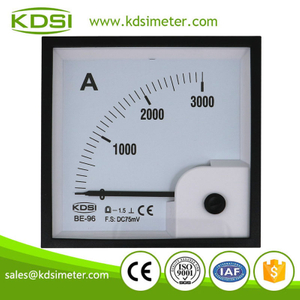 Safe to operate BE-96 DC75mV 3000A dc analog panel current meter