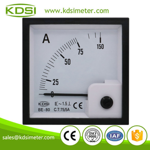 KDSI electronic apparatus BE-80 AC75/5A panel analog ac ammeter ac voltmeter