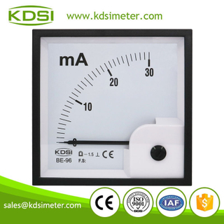 KDSI electronic apparatus BE-96 DC30mA dc analog panel current milliammeter