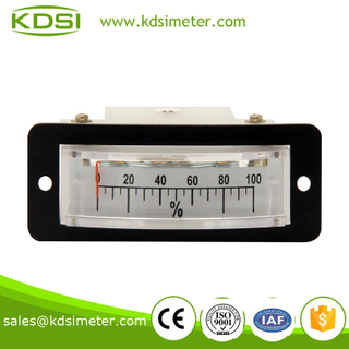 Thin edgwise BP-15 load meter DC10V 100% industrial moving coil analog voltmeter load meter