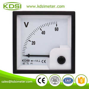 Industrial universal KDSI BE-72 AC60V rectifier analog ac panel mount voltmeter