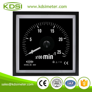 Original manufacturer high Quality BE-96W DC1mA 25x100min black background analog panel marine tachometer