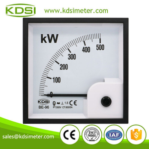 High quality professional BE-96 3P3W 500kW 500V 600/5A analog panel power meter