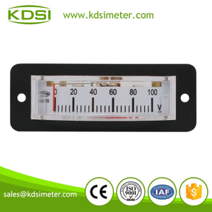 Easy operation BP-15 DC100V analog panel mini thin edgewise voltmeter