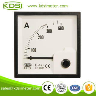 Square type BE-72 72*72 AC300/5A high current meter