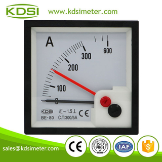 Factory direct sales BE-80 AC300/5A with red pointer panel analog ac ammeter