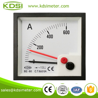 Easy installationBE-80 AC600 / 5A rectifier with red pointer panel analog ammeter