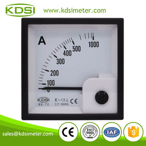 KDSI electronic apparatus BE-72 AC500/5A ac panel analog current ammeter