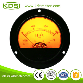 Small & high sensitivity BO-52 DC300mA analog backlighting panel mount round milliammeter