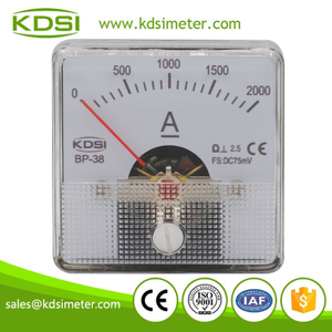 China Supplier BP-38 DC75mV 2000A panel analog dc voltmeter & ammeter for solar power
