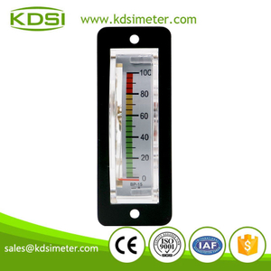 New design BP-15 DC100mA vertical color dc analog thin edgewise panel milliammeter