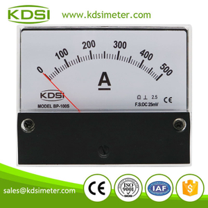 New Hot Sale Smart BP-100S DC25mV 500A analog dc panel mount ammeter