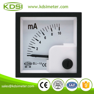 Small & high sensitivity BE-48 DC10mA dc analog amp current panel meter