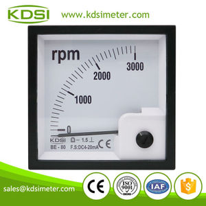 Safe to operate BE-80 DC4-20mA 3000rpm panel analog amp electronic rpm meter