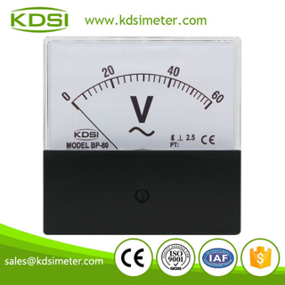 Hot sales BP-80 AC60V black cover analog panel ac voltage meter