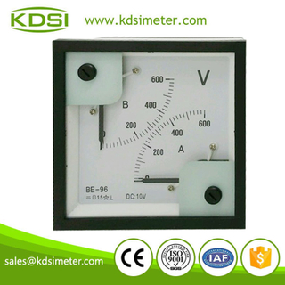 Double display meter BE-96 96 * 96 DC10V 600V panel voltage meter