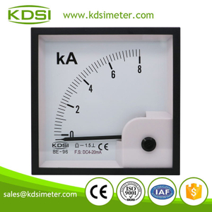 High quality professional BE-96 DC4-20mA 8kA dc analog panel ampere indicator