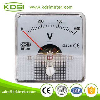 China Supplier BP-38 DC600V analog dc panel mount voltmeter