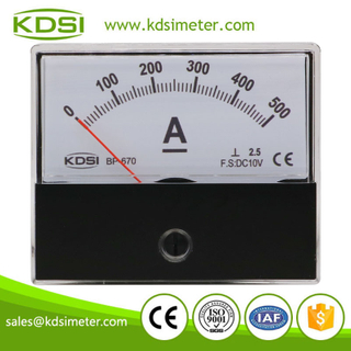 Industrial universal BP-670 DC10V 500A dc analog panel mount ammeter