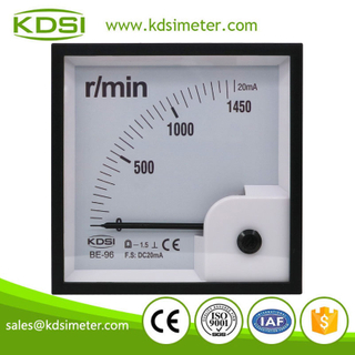 Original manufacturer high Quality BE-96 DC20mA 1450r/min analog panel amp tachometer