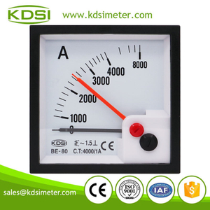 High quality professional BE-80 AC4000/1A with red pointer ac analog amp current panel meter