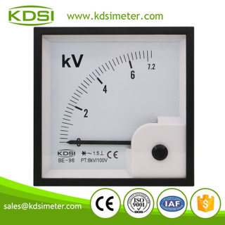 CE Approved BE-96 AC7.2kV 6kV/100V analog ac rectifier control panel voltmeter