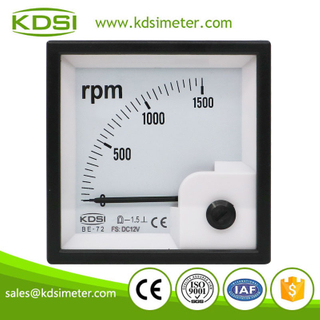 CE certificate BE-72 RPM meter DC12V 1500RPM analog voltage panel marine tachometer