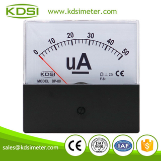 Hot Selling Good Quality BP-80 DC50uA black cover analog dc panel micro ammeter