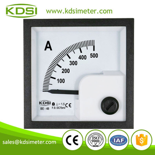 High quality professional BE-48 DC75mV 500A dc analog panel ammeter