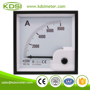 CE Approved BE-96 DC75mV 8000A analog dc panel volt ampere meter