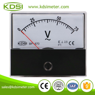High quality professional BP-670 AC75V analog ac panel voltmeter