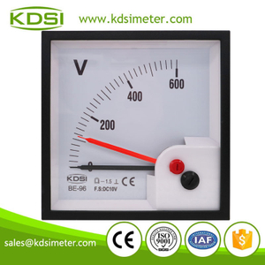 Factory direct sales BE-96 DC10V 600V with red pointer dc analog voltage panel mount voltmeter