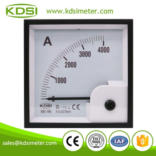 Easy installation BE-96 DC75mV 4000A analog dc panel ampere meter for shunt