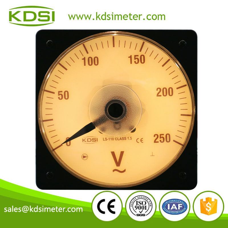 Easy installation Marine meter LS-110AC250V backlighting analog ac panel mount voltmeter