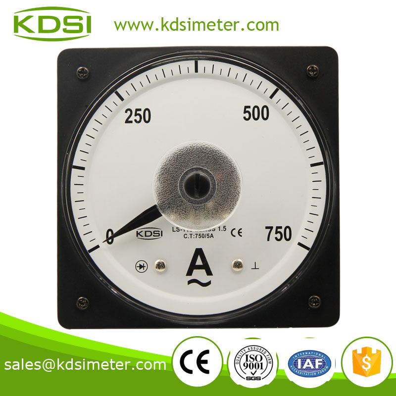 Vehicles LS-110 110*110 AC750/5A wide angle analog ampere meter