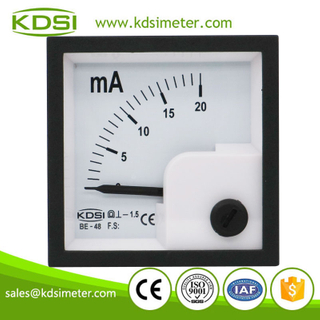 CE certificate BE-48 DC20mA dc analog panel milliampere meter