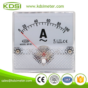 High quality professional BP-80 AC100/5A ac analog panel mount ammeter