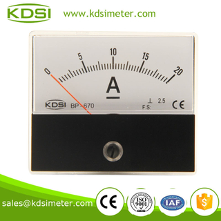 Taiwan technology BP-670 DC20A analog dc ammeter