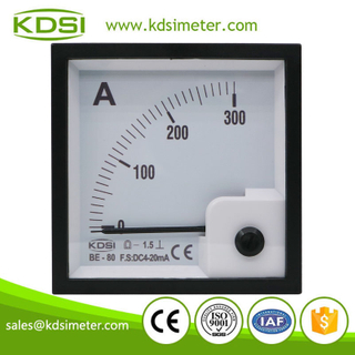Factory direct sales BE-80 DC4-20mA 300A analog dc panel ampere current meter