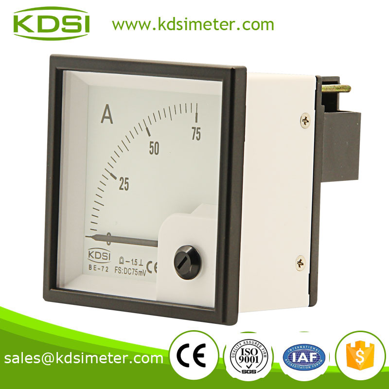 Industrial universal BE-72 72*72 DC 75mV 75A voltmeter ammeter