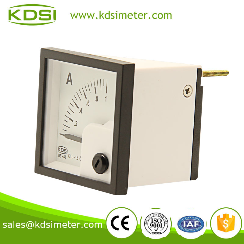 BE-48 48*48 DC Ammeter DC1A taiwan technology amp panel meter
