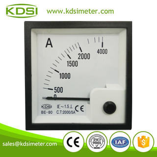 KDSI electronic apparatus BE-80 AC2000/ 5A panel mount ammeter